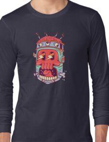 A Colourful Screaming Skull Long Sleeve T-Shirt