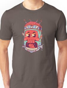 A Colourful Screaming Skull Unisex T-Shirt
