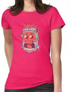 A Colourful Screaming Skull Womens Fitted T-Shirt