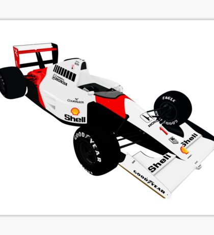 McLaren MP4/6A - Ayrton Senna Sticker