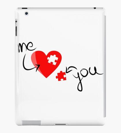 Puzzle heart 2 iPad Case/Skin