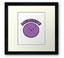 MEMBER BERRIES! MEMBER? Framed Print