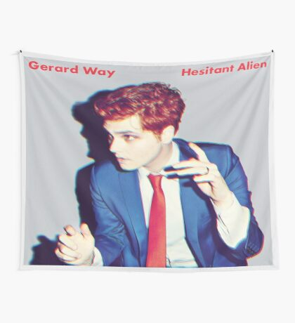Hesitant Alien Flag Wall Tapestry