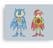 Batman and Robin Superheroes Canvas Print