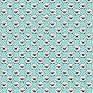Fluffy Sheep Light Blue Pattern by SaradaBoru