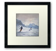 Last Run, Les Arcs Framed Print