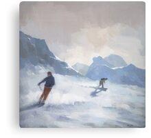 Last Run, Les Arcs Canvas Print