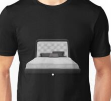 Glitch furniture bed pearly white quilted bed Unisex T-Shirt