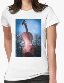 violin  Womens Fitted T-Shirt