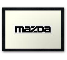 Mazda. Framed Print