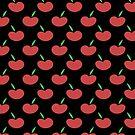 Black and Red Apple Pattern by SaradaBoru