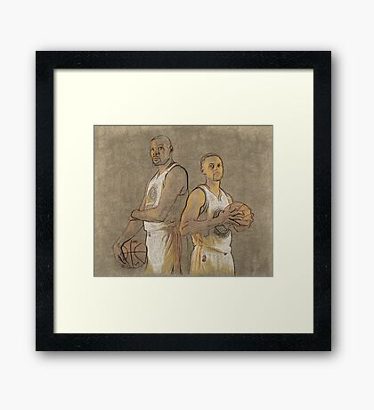 Curry and Durant Framed Print