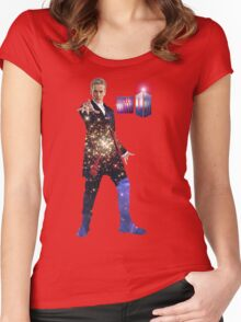 Galactic Peter Capaldi Women's Fitted Scoop T-Shirt