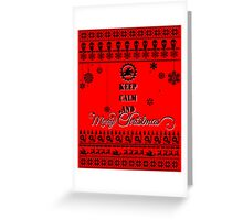 Keep Calm And Merry Christmas   Motorcycle Greeting Card