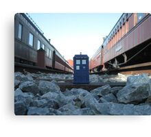 Train Track TARDIS Canvas Print