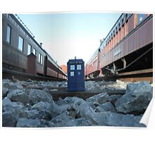 Train Track TARDIS Poster