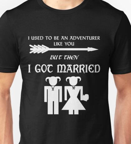But Then I Got Married (White) Unisex T-Shirt