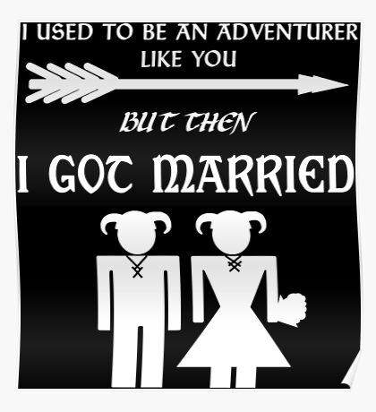 But Then I Got Married (White) Poster