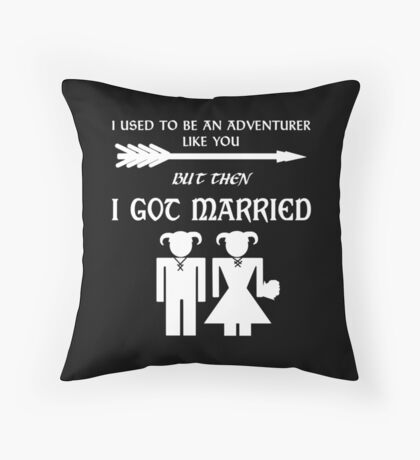 But Then I Got Married (White) Throw Pillow