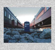 Train Track TARDIS One Piece - Short Sleeve