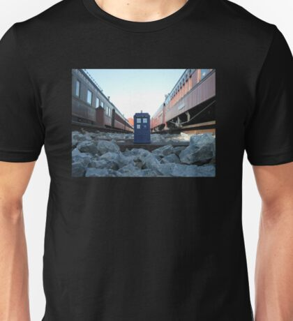 Train Track TARDIS Unisex T-Shirt