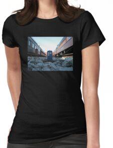 Train Track TARDIS Womens Fitted T-Shirt