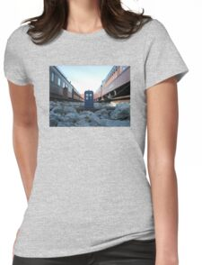 Train Track TARDIS Womens Fitted T-Shirt
