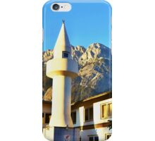 Mosque Under The Hohe Munde Peak In Alps iPhone Case/Skin