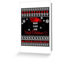 Keep Calm And Merry Christmas Motorcycle-1-1 Greeting Card