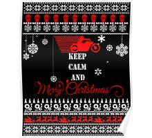 Keep Calm And Merry Christmas Motorcycle-1-1 Poster