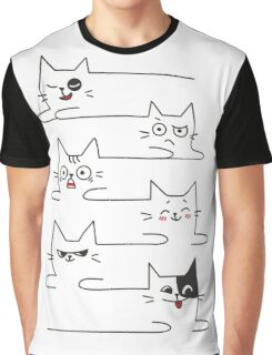 Funny Cats Unlimited Lines Graphic T-Shirt