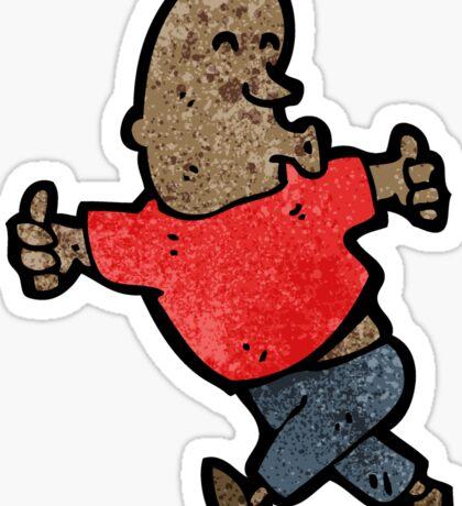 cartoon man giving thumbs up sign Sticker