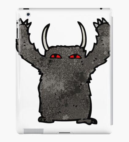 cartoon black monster iPad Case/Skin