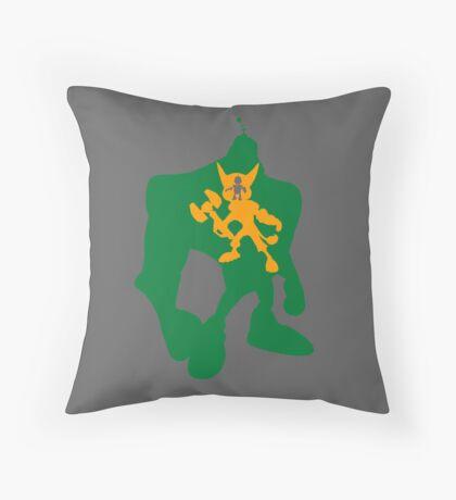 Clank, Ratchet and Quark Throw Pillow