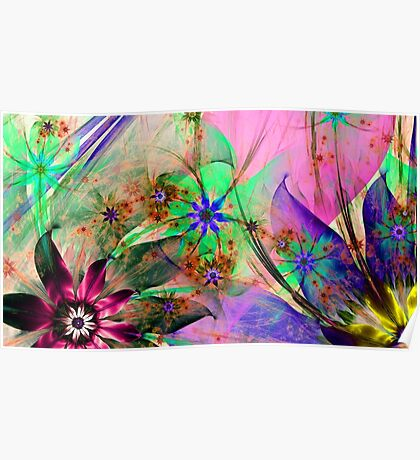 Stunning floral print Poster