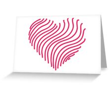 Pink heart 5 Greeting Card