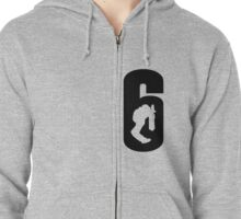 Rainbow Six Siege Chicken Leg Blitz Big 6 Zipped Hoodie