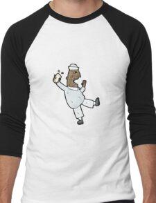 cartoon drunken sailor Men's Baseball ¾ T-Shirt
