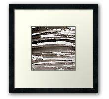Watercolor texture black color Framed Print