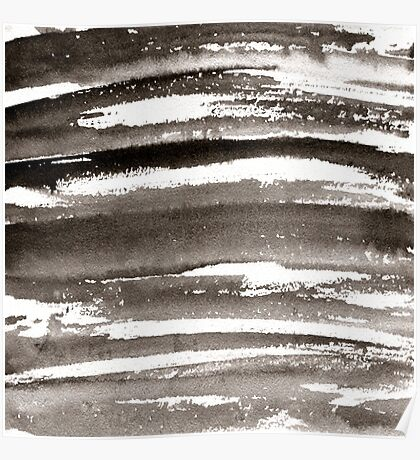 Watercolor texture black color Poster