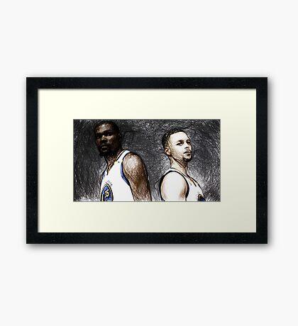 Warriors Duo  Framed Print