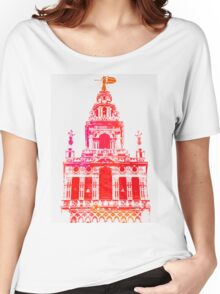 Seville - Giralda Red Women's Relaxed Fit T-Shirt