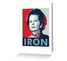 The Iron Lady Greeting Card