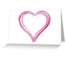 Pink heart 6 Greeting Card