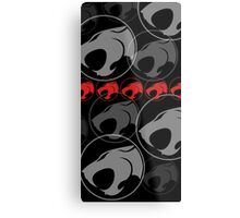 The Iconic Thundercats (black) Metal Print