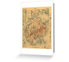 Vintage Map of Maine Greeting Card