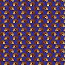 Sleeping Red Panda Blue Pattern by SaradaBoru