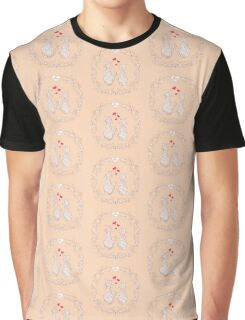 couple zen cats into floral circle Graphic T-Shirt