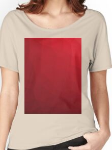 RED GEOMETRIC LOW POLY  Women's Relaxed Fit T-Shirt