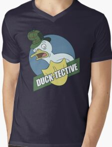 Duck-Tective Mens V-Neck T-Shirt